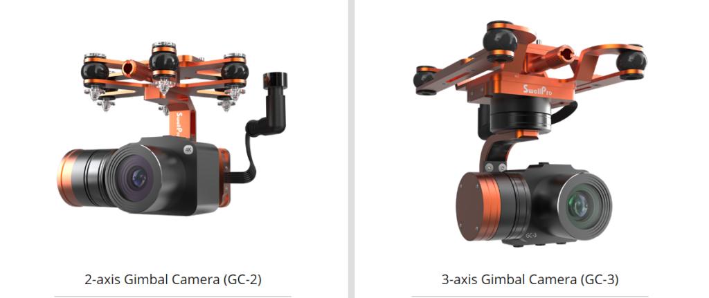 SwellPro 4K 3 axis gimbal vs 2 axis gimbal camera