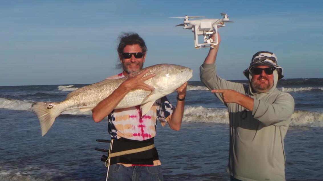 Drone fishing with Phantom 4