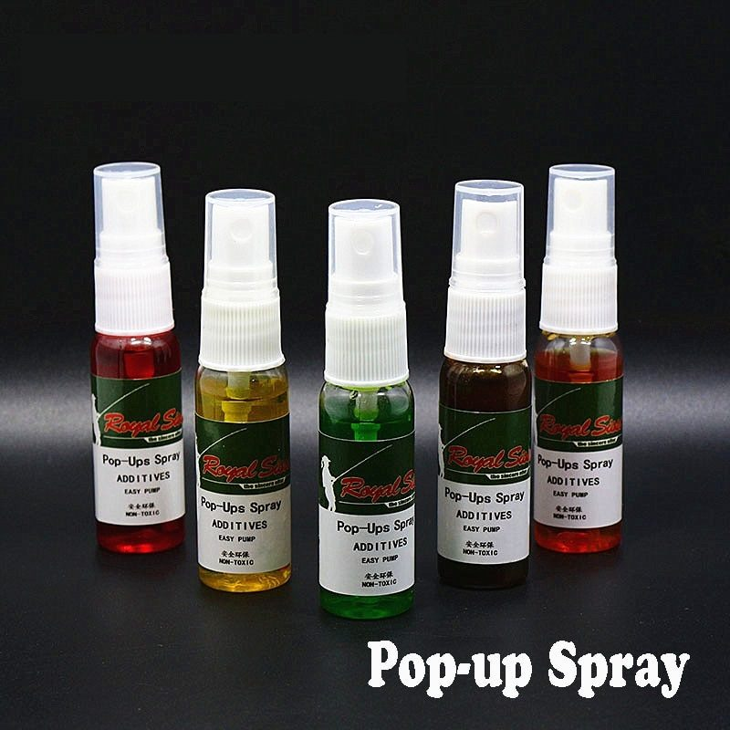2bottles pop ups spray 5 optional smells carp fishing additives spray attractant feeder stinky sweet dip