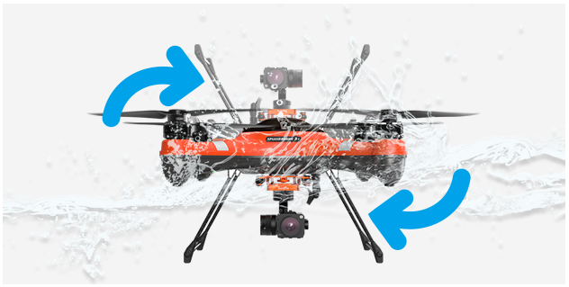 SwellPro SplashDrone 3+ Self-righting when floating