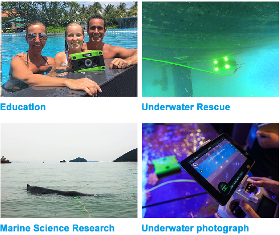 CCROV - Other Uses - Education - Underwater Rescue - Marine Science Research - Underwater Photograph
