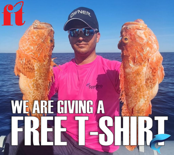 Finish-Tackle is giving you a free t-shirt on every purchase of the Spydro fishing camera