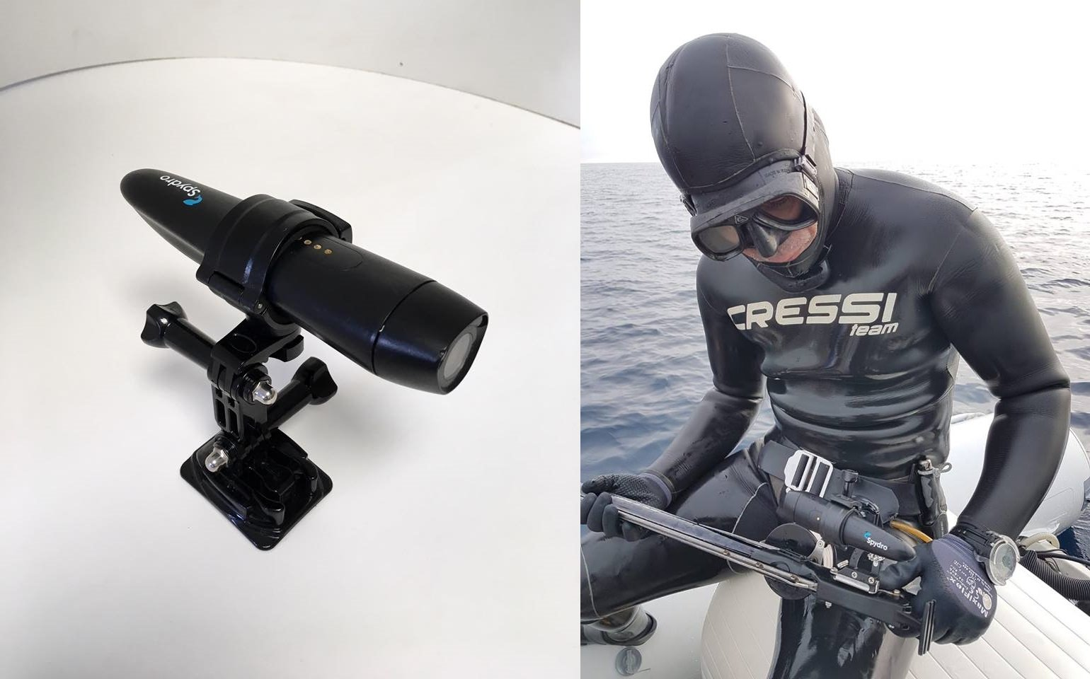 Spydro Fishing Camera - Regular Holder and Spearfishing Holder