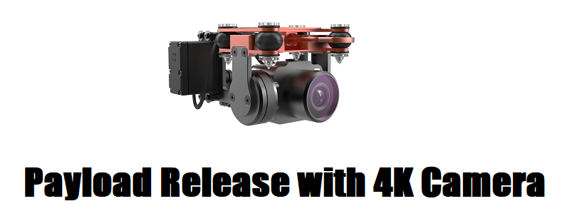 SplashDrone 3+ Payload Release with 4K camera