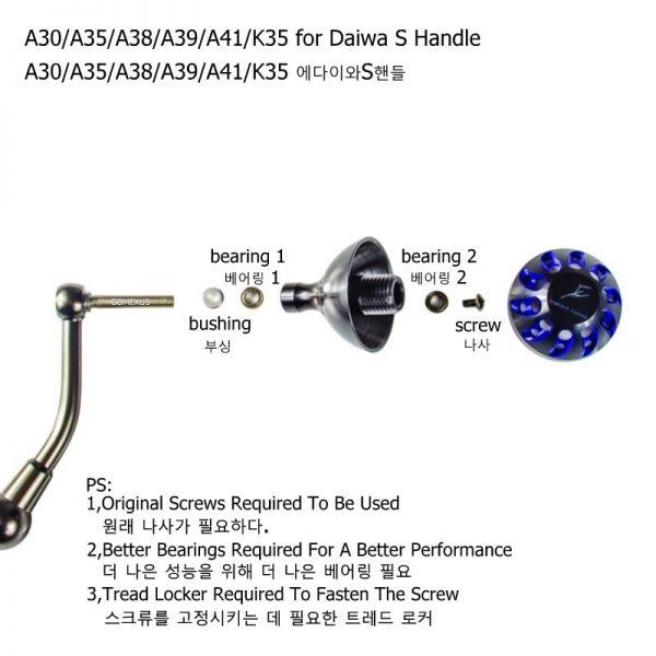 Gomexus Power Knob 35 mm C Power Knob For spinning reel Instructions
