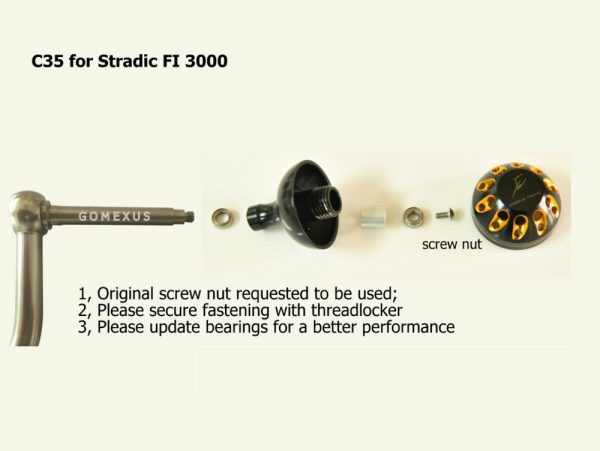 Gomexus Power Knob 35 mm C Power Knob For spinning reel Instructions for Stradic FI 3000
