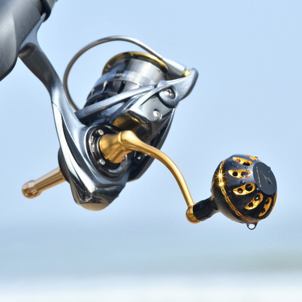 Gomexus Power Knob 35mm - Shimano Aero Fishing Spinning Reel Black Gold