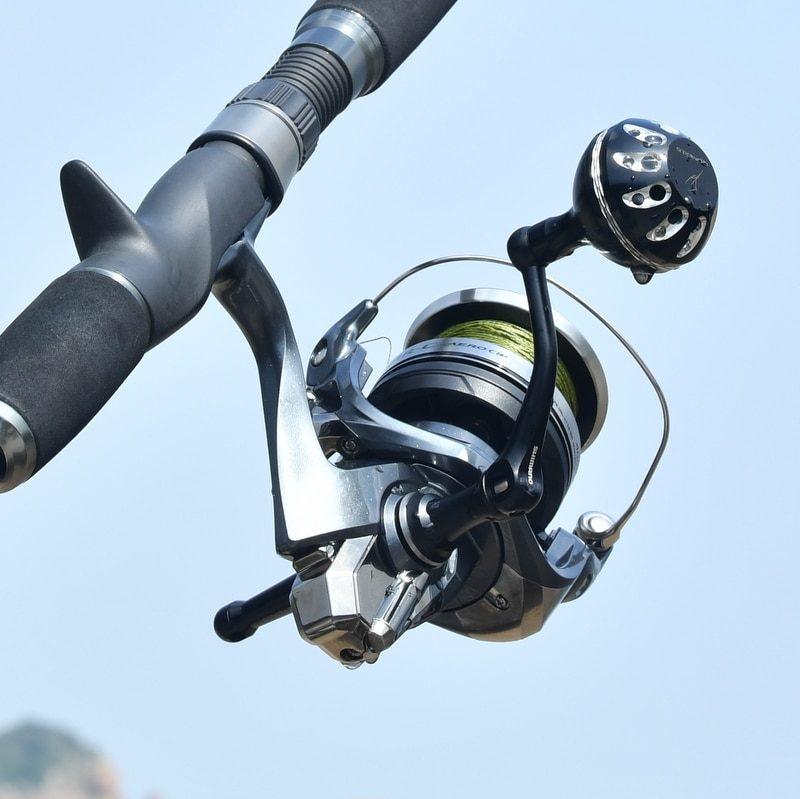 Gomexus Power Knob 35mm - Shimano Aero Fishing Spinning Reel Black Silver