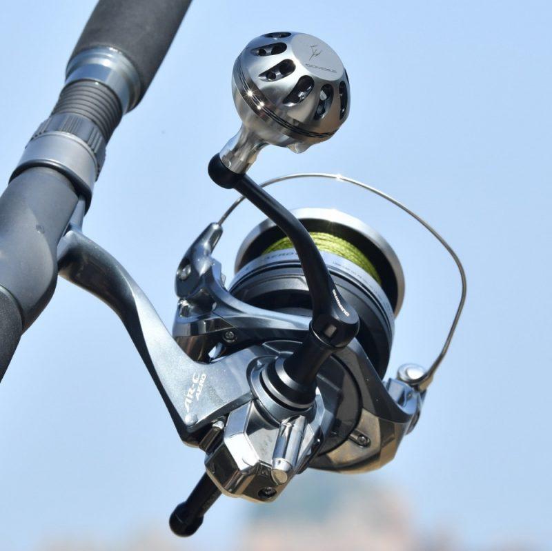 Gomexus Power Knob 35mm - Shimano Aero Fishing Spinning Reel Silver Smoke