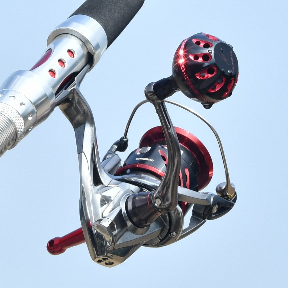 Gomexus Power Knob 35mm - Shimano fishing spinning reel Black Red