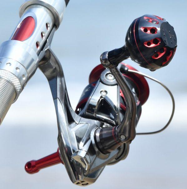 Gomexus Power Knob 41mm for Shimano A, Daiwa S Sample Black Red