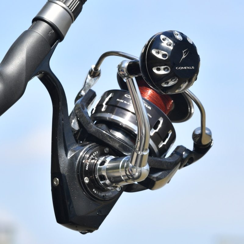 Gomexus Power Knob 45mm for Daiwa L Sample Black Silver