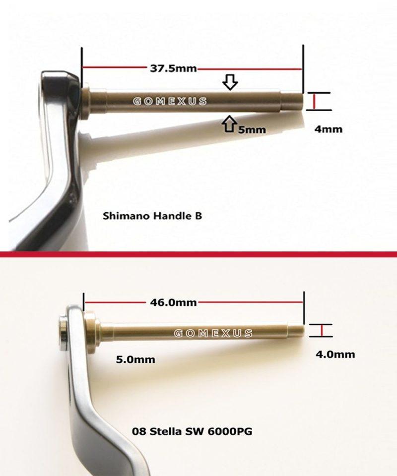 Gomexus power knob 47mm for shimano B daiwa L Handle