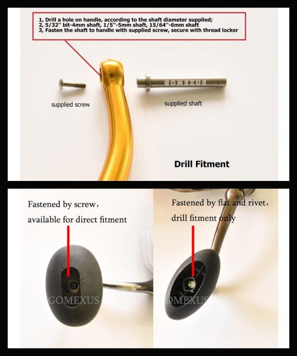 Gomexus power knob 47mm for shimano B daiwa L Instructions