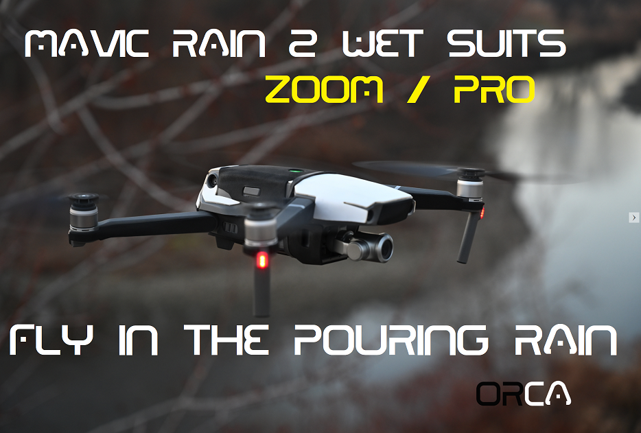 Mavic Rain 2 wetsuits 4 colors available by Phantom Rain - Mavic Pro - Mavic Zoom