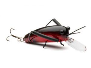 DM Cricket Lures Medium Wooden Black Red
