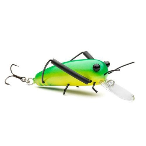 DM Cricket Lures Small Wooden Green Yellow