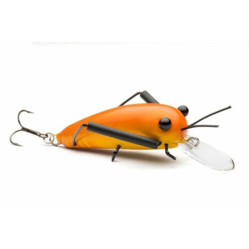 DM Cricket Lures Small Wooden Orange Yellow
