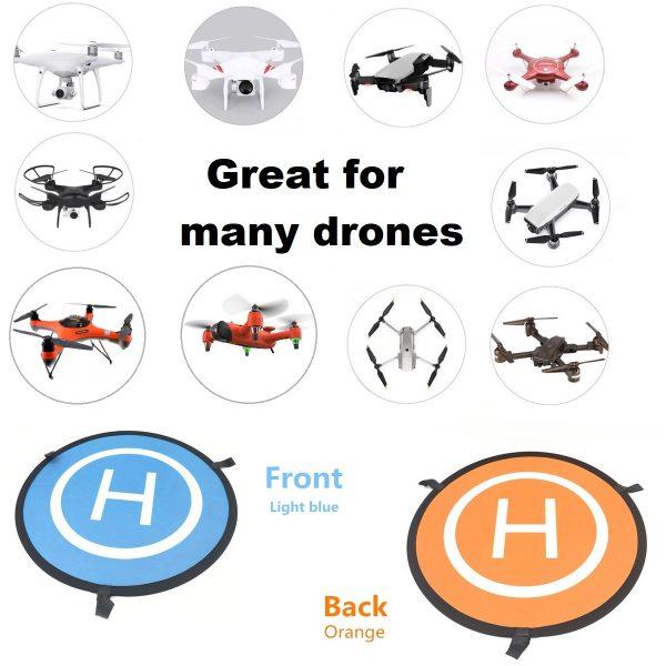 Drone Landing Pad - Waterproof - DJI Mavic, Phantom, SwellPro SplashDrone 3, SPRY drone