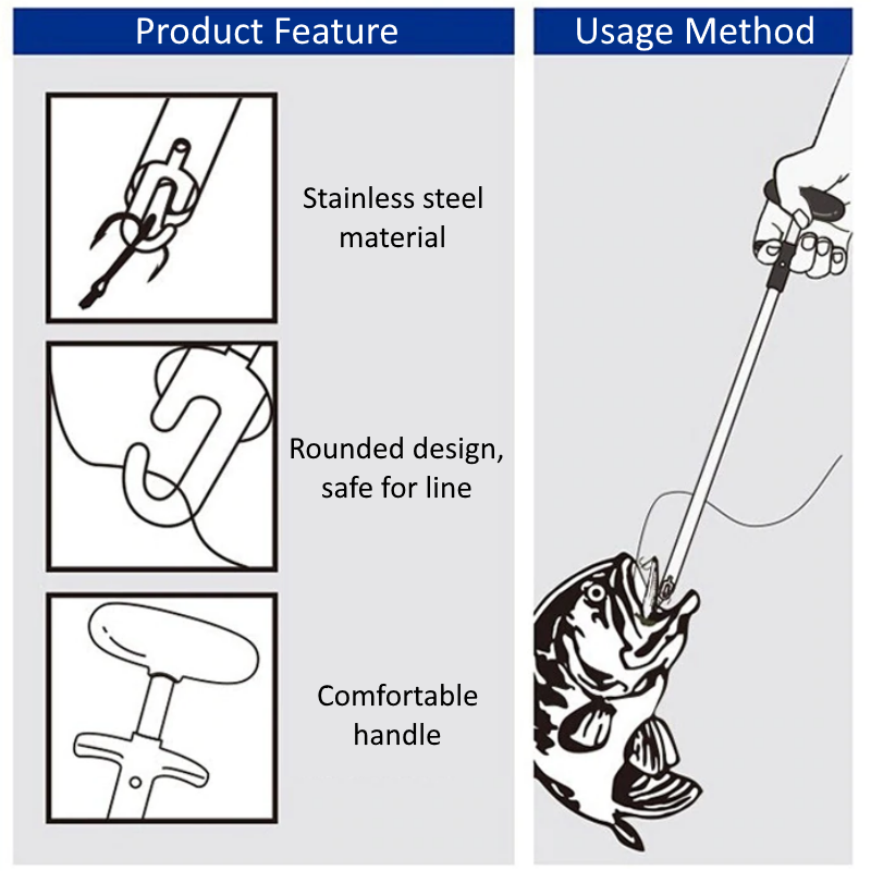 Fishing Hook Remover - How to pull out diagram