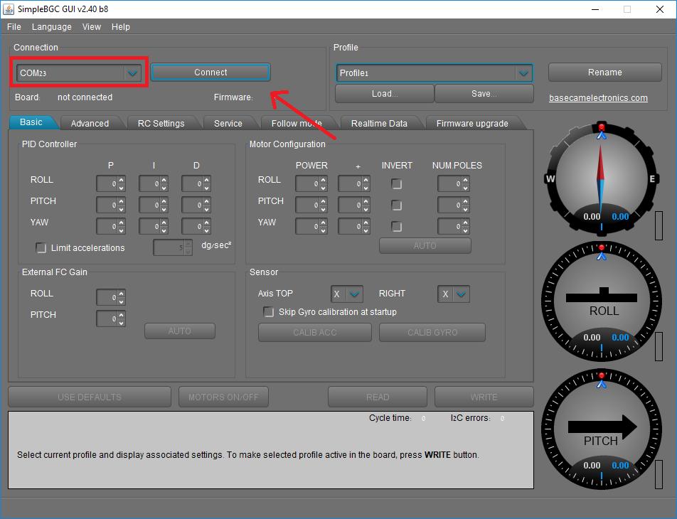 SwellPro PL3 Camera Calibration - BaseCam First step