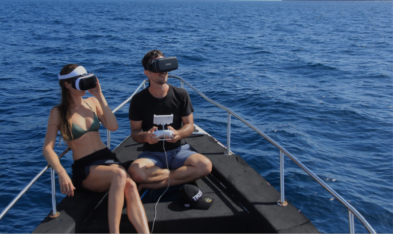 QYSEA FIFISH V6 - 3 types of control - VR Goggles