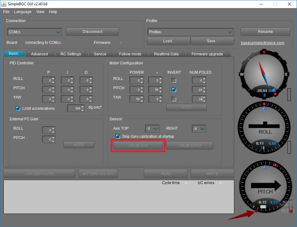 SwellPro PL3 Camera Calibration - BaseCam Calib ACC
