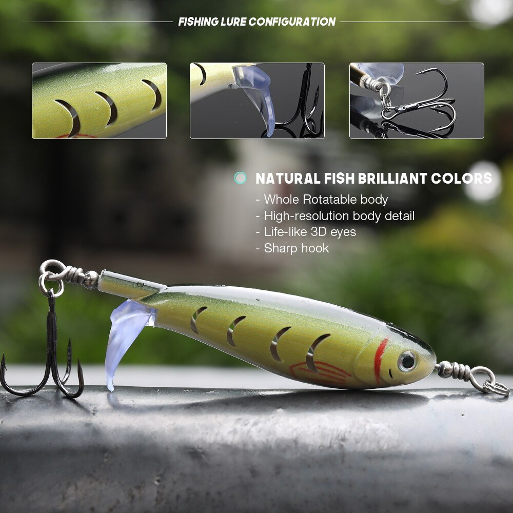 Finish-Tackle Rotating Wobbler Topwater Pencil 10cm 9g - Configuration