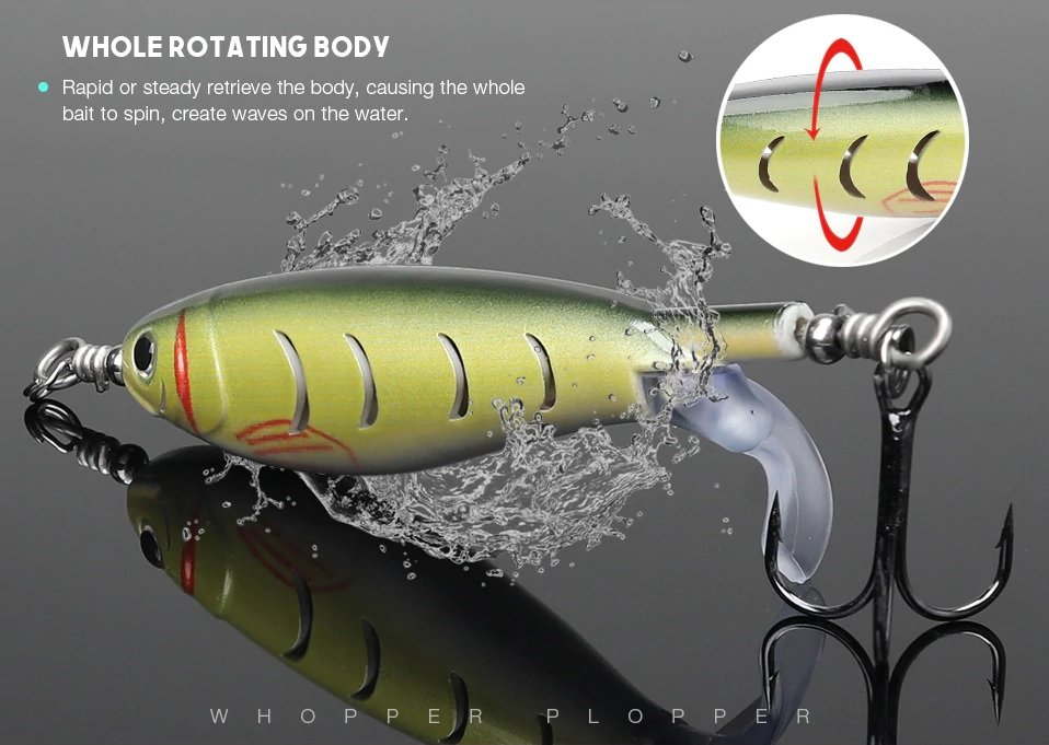 Finish-Tackle Rotating Wobbler Topwater Pencil 10cm 9g - whole rotating body