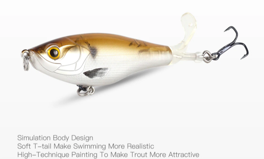 Finish-Tackle Whopper Plopper Fishing Lure - available colors - Simulates Body Design