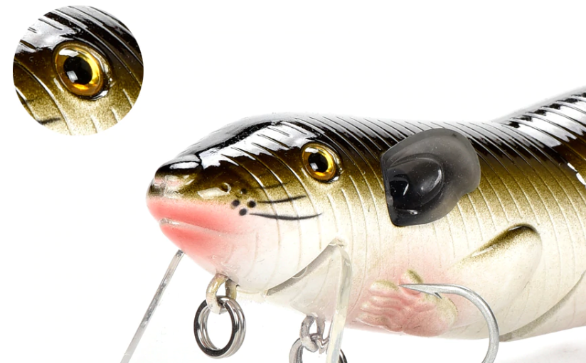 Floating Rat Bait Fishing Lure - 3D Realistic Eyes