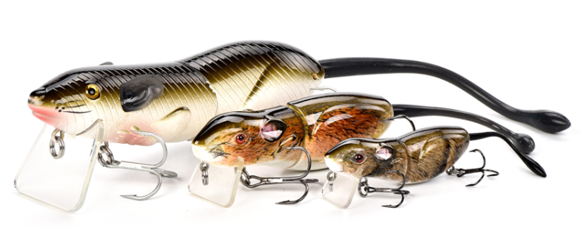Floating Rat Bait Fishing Lure - all 3 sizes