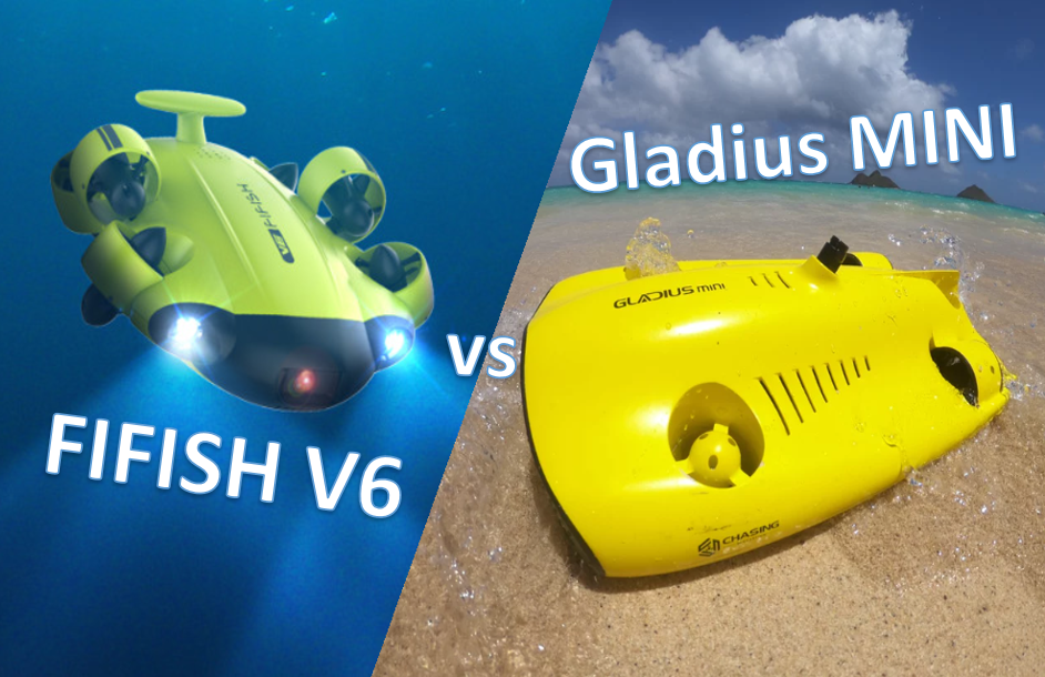 Gladius Mini vs FIFISH V6 - Best Underwater Drone - featued Image
