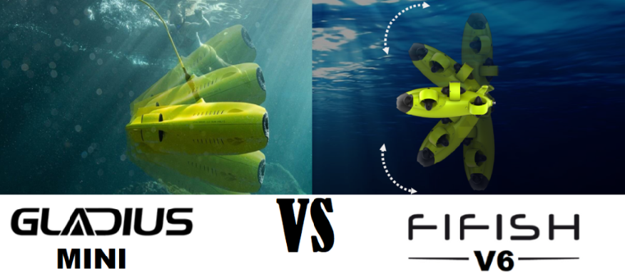 Gladius Mini vs FIFISH V6 - movement