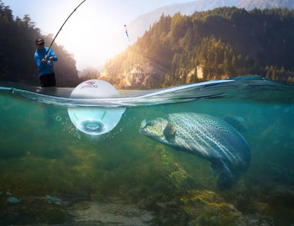 Joylog Smart Fish Finder Sonar - Catching a fish