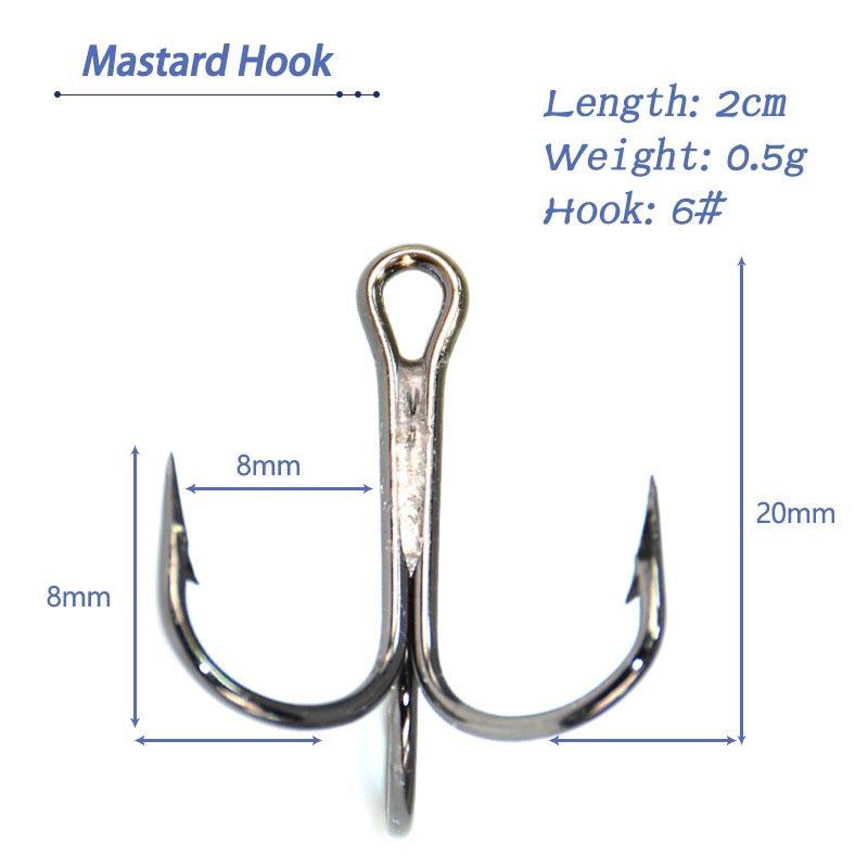 Multi Jointed 6 Segments Fishing Lure - 2cm 0.5g num 6 Fishing Hook Mastard Hook