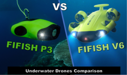 FIFISH V6 vs FIFISH P3 - underwater drones comparison - small banner image