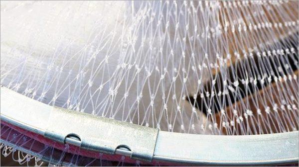 Magic Fishing Net - Blue Handle Cast Net for fishing - Catch Live bait - clear line