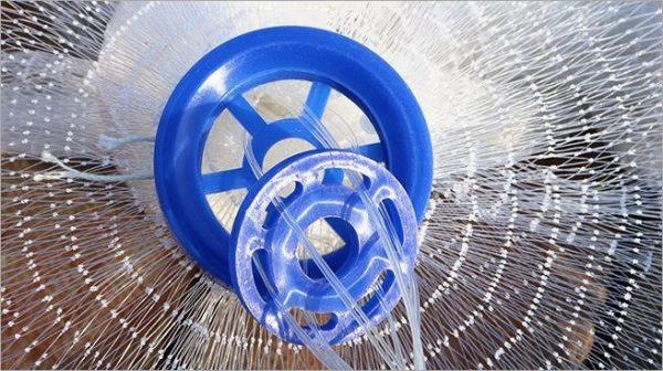 Magic Fishing Net - Blue Handle Cast Net for fishing - Catch Live bait - mesh