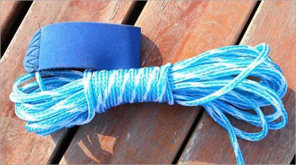Magic Fishing Net - Blue Handle Cast Net for fishing - Catch Live bait - rope