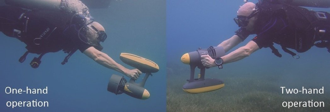 MagicJet Magic Jet Underwater Scooter - Sea Scooter - One Hand or with Two hands - AquaRobotMan - Smaller - Finish-Tackle
