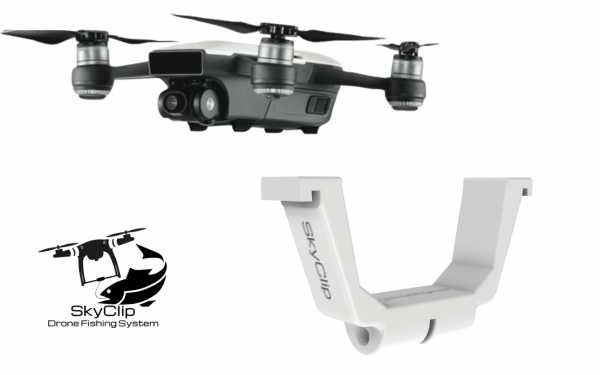 SkyClip for SPARK - Drone Fishing made easy- Bait Dropping Device - Payload Release
