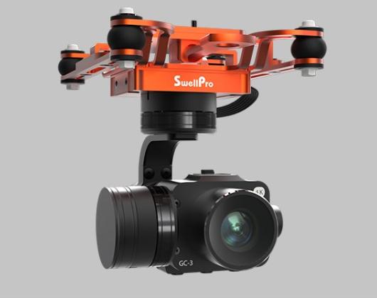SwellPro SplashDrone 3+ Filming - 3-axis gimbal 4K camera - GC3