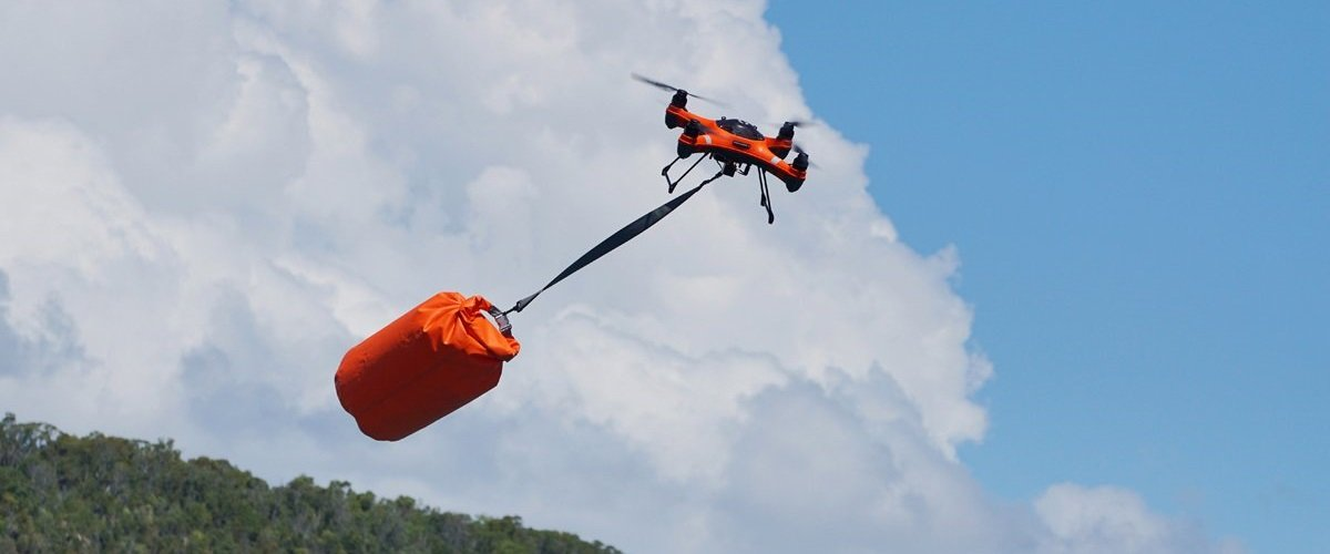 SwellPro SplashDrone 3+ Search and Rescue Carring