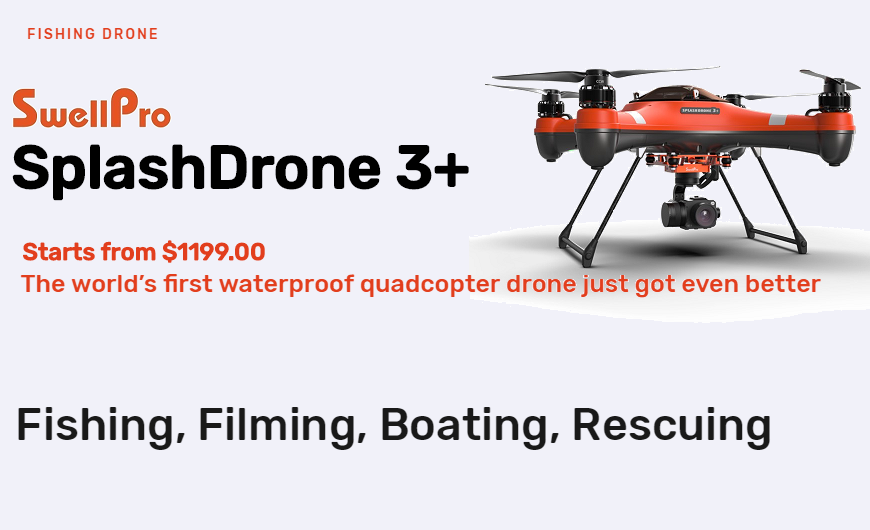 SwellPro SplashDrone 3+ Waterproof Fishing Filming Drone - Finish-Tackle