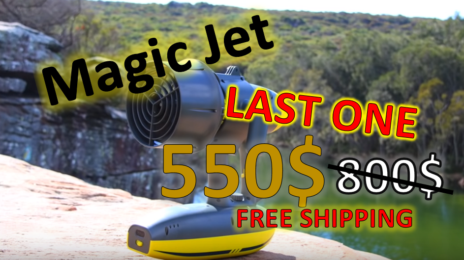 MagicJet Free Shipping Last one at 550 USD instead of 800 USD