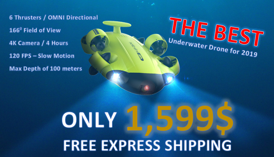 QYSEA FIFISH V6 Best underwater Drone for 2019 only 1599 USD