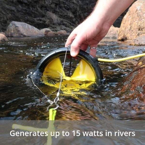 WaterLily Turbine 12v Charger - Generates up to 15 watts in rivers