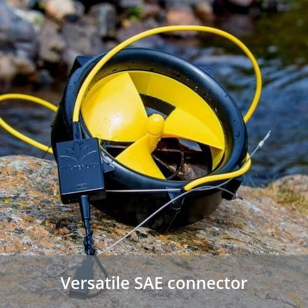 WaterLily Turbine 12v Charger - Versatile SAE Connector
