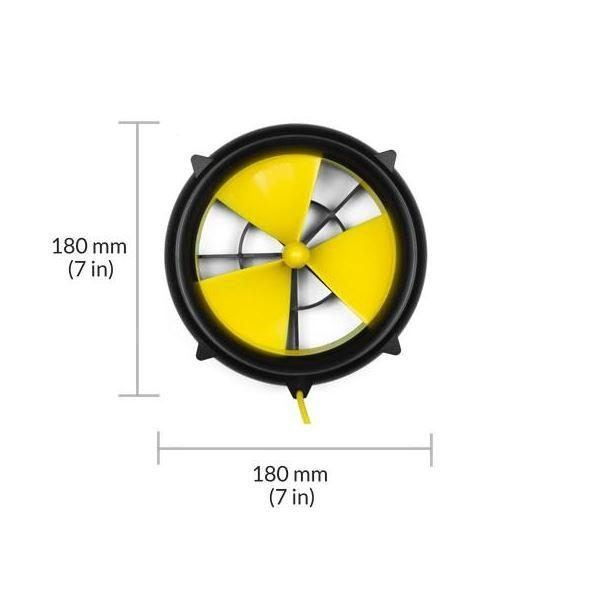 WaterLily Turbine 12v Charger - dimensions